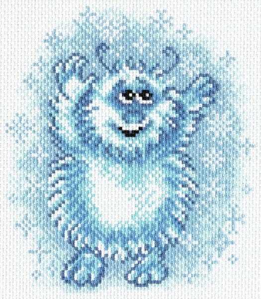 1617 Снежинки -  рисунок на канве (МП)