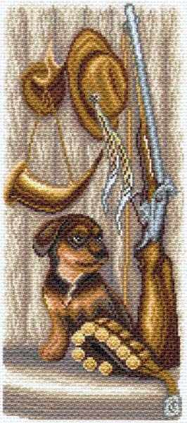 1620 Пора на охоту -  рисунок на канве (МП)
