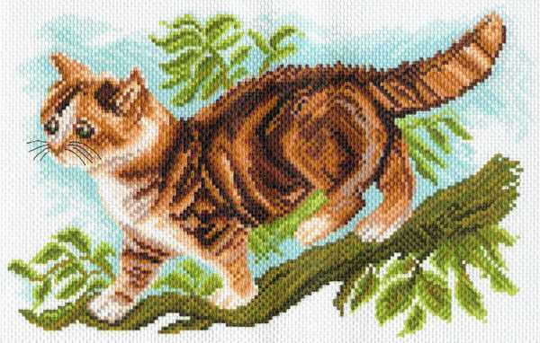 1627 Утренняя охота - рисунок на канве (МП)