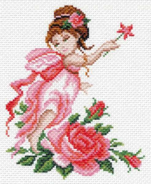 1637 Фея роза - рисунок на канве (МП)