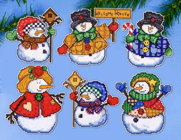 """1664 Комплект рождественских игрушек """"Радость зимы"""", 6 шт. (Design Works)"""