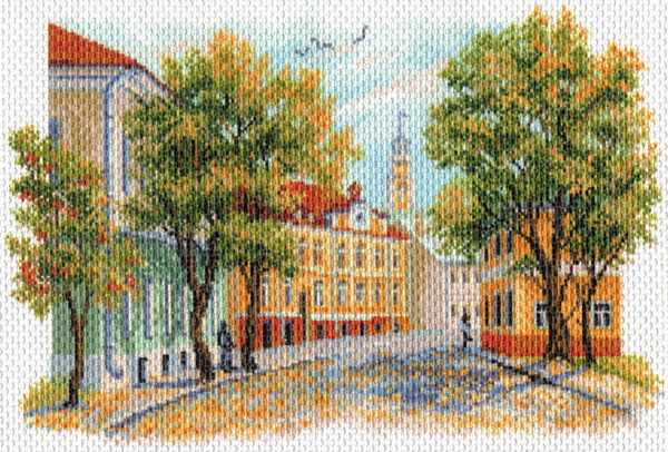 1674 Уездный город - рисунок на канве (МП)