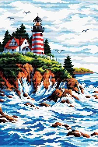 1701-14 Старинный маяк (Белоснежка)
