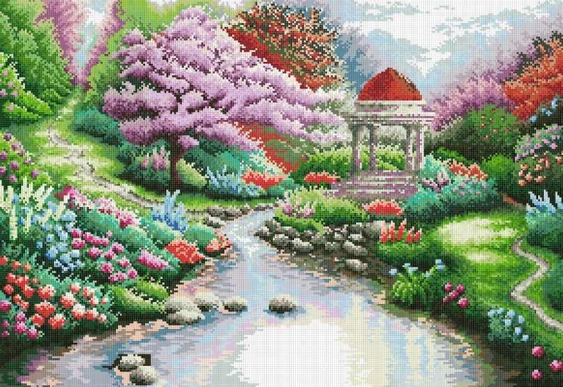 188-ST Японский сад (Белоснежка)