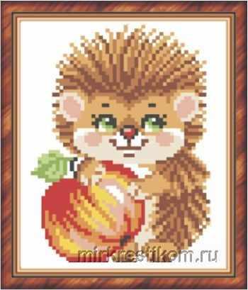 2044 Ёжик и яблоко