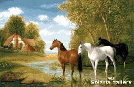 2111-20 Фермерское угодье с лошадьми