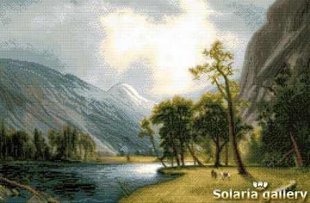 2112-14 Небосклон долины Йосумити - бумажная схема
