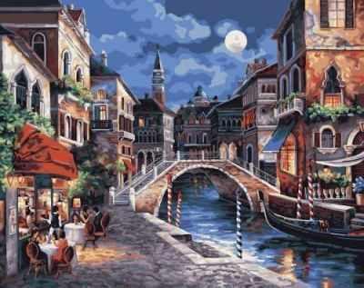 """21739 PLD """"Венеция ночью"""" - раскраска"""