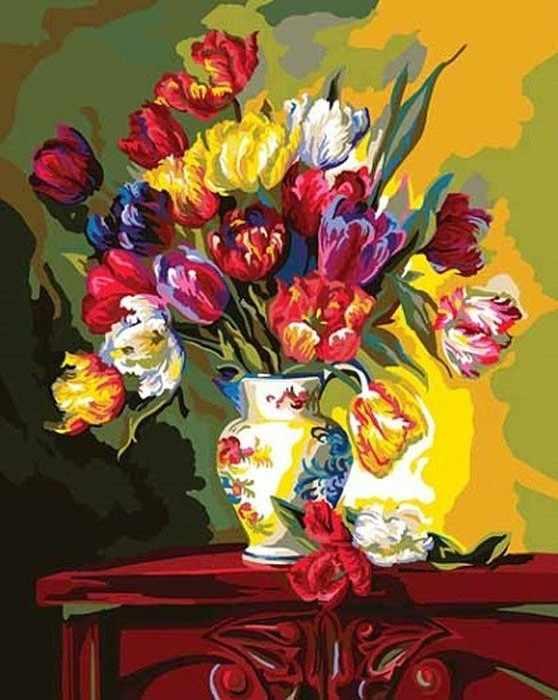 """22049-PLD """"Тюльпаны напоказ"""" - раскраска"""