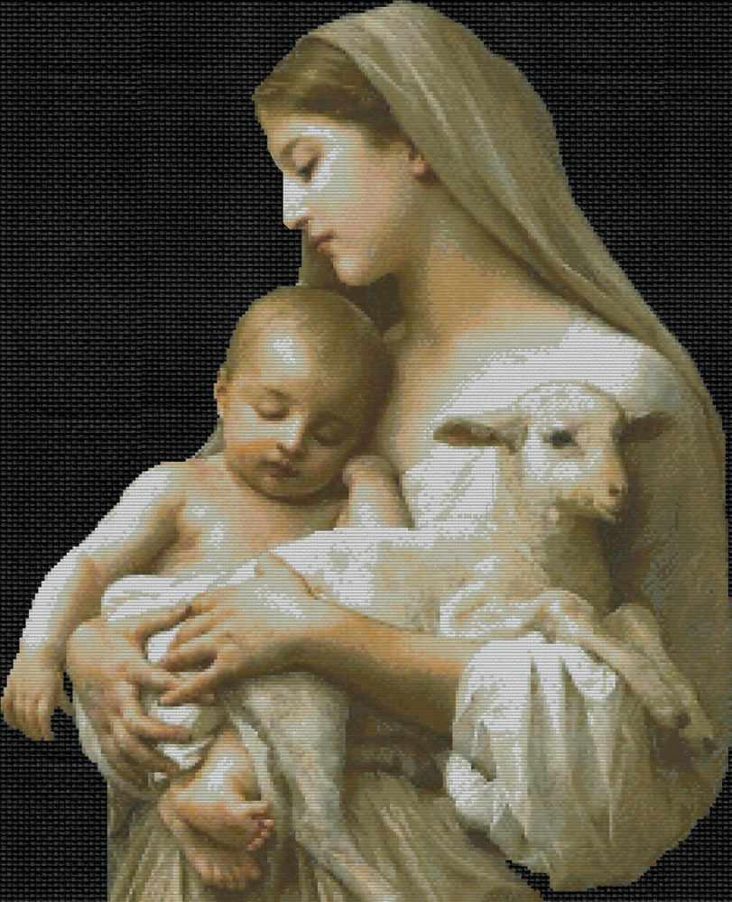 2246-14 Дева с ребенком (Белоснежка)