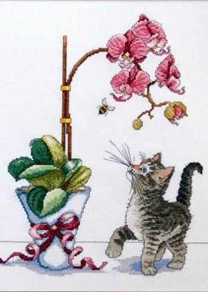 2546 Orchid Kitty (Design Works)