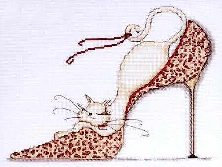 2553 Leopard Shoe Kitty (Design Works)