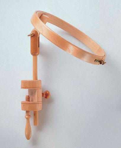 263-6 Пяльцы с креплением для стола, диаметр 21,5 см, бук