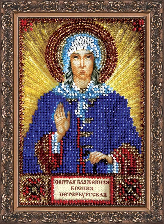Вышивание крестиком иконы Ксении Петербургской 12