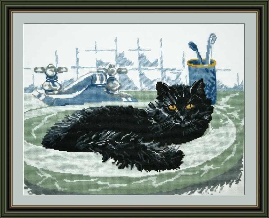 Схема вышивки сибирский кот 45