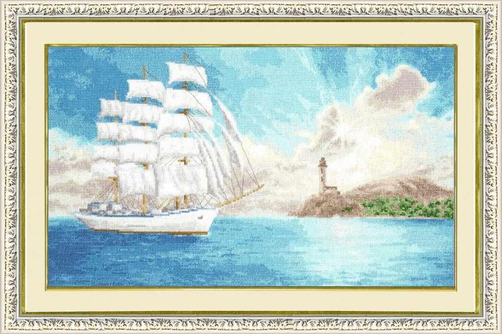 Вышивка бисером корабль схемы 52