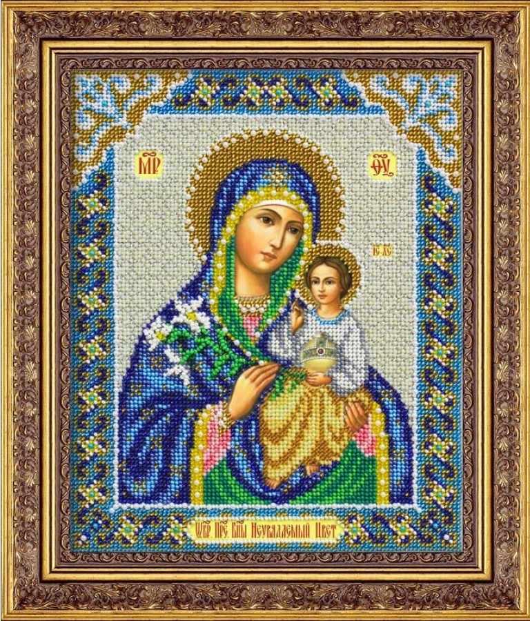 Богородица неувядаемый цвет вышивка