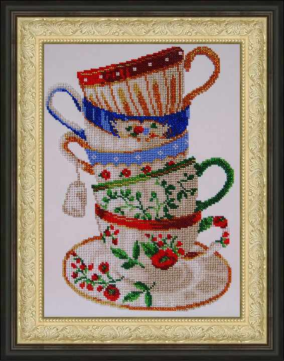 Вышивка крестом чашка для чая 264
