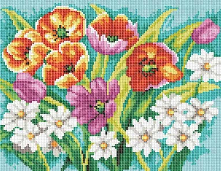 271-ST Прекрасные цветы (Белоснежка)