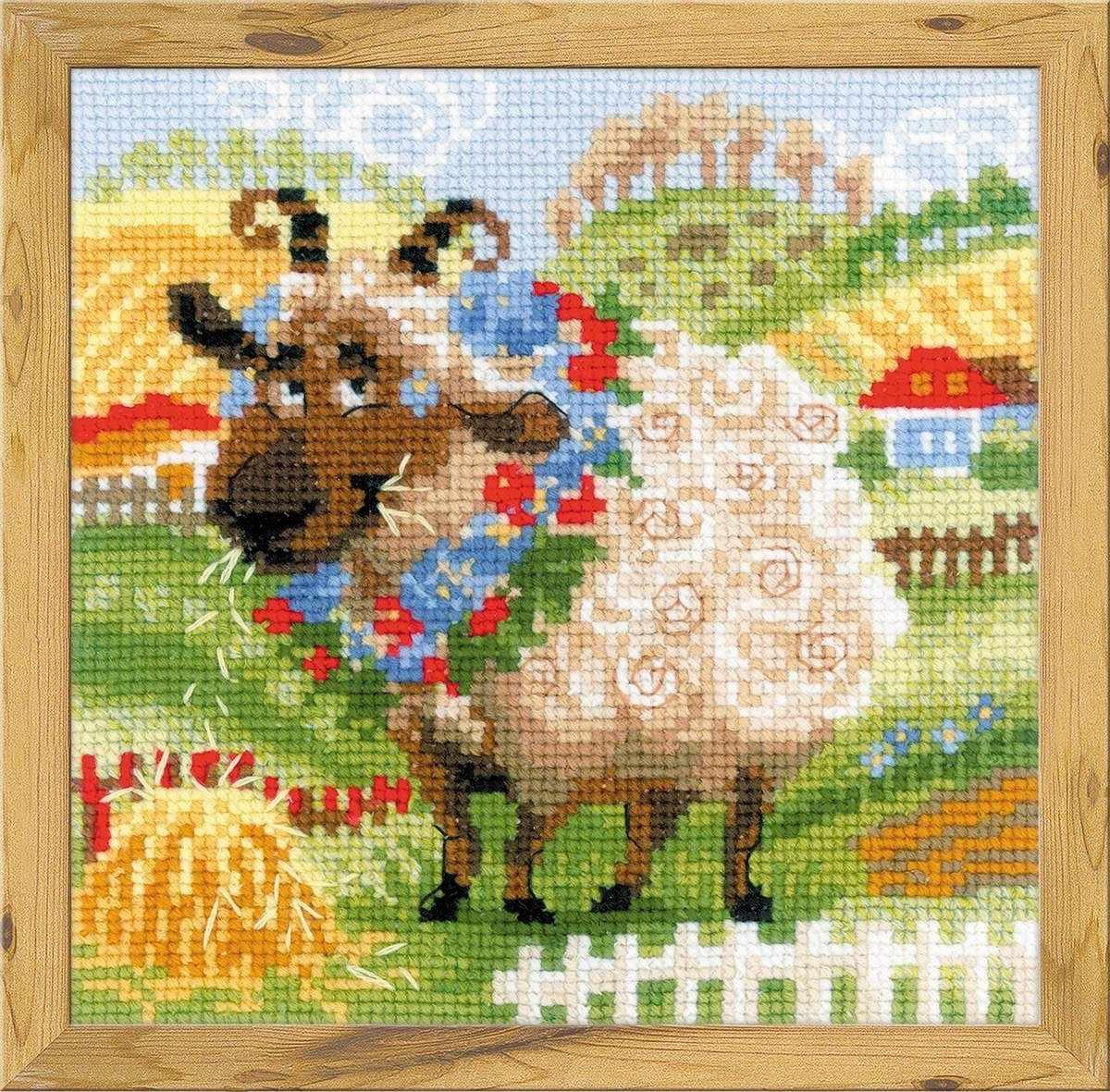 Вышивка овечка от алисы