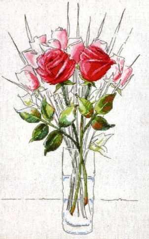 2712 Розы. Набросок (Sketchbook Roses) (Design Works)