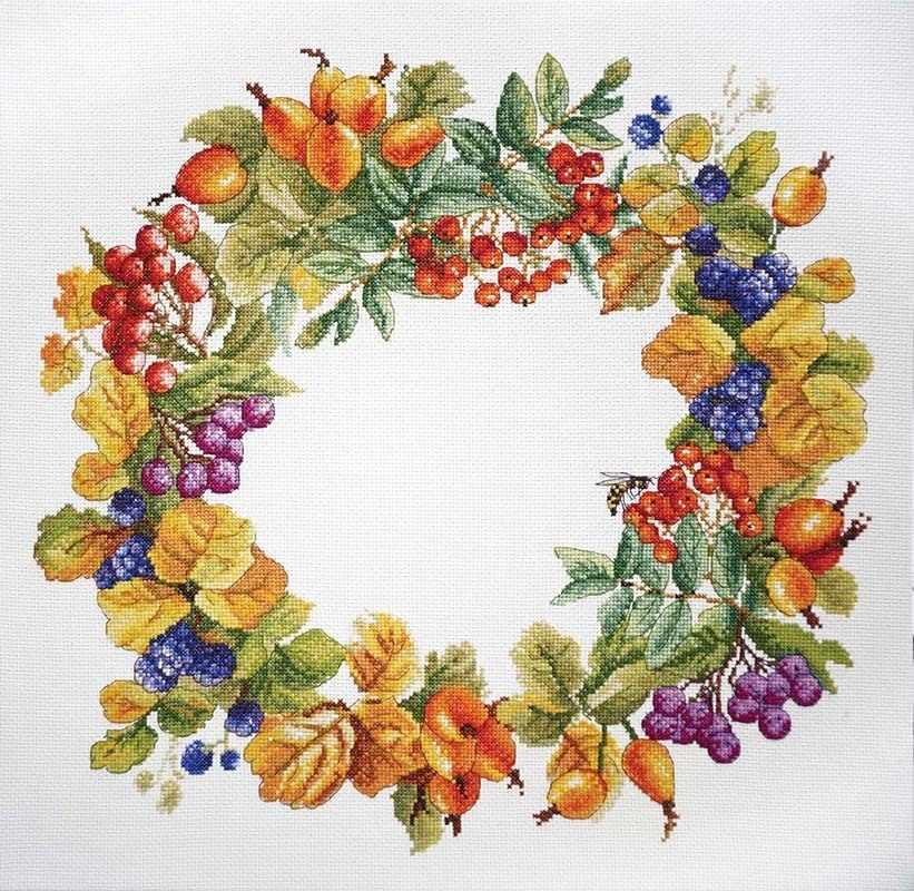 Вышивка венков из цветов 558