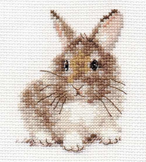Вышивка зайцы кролики 2