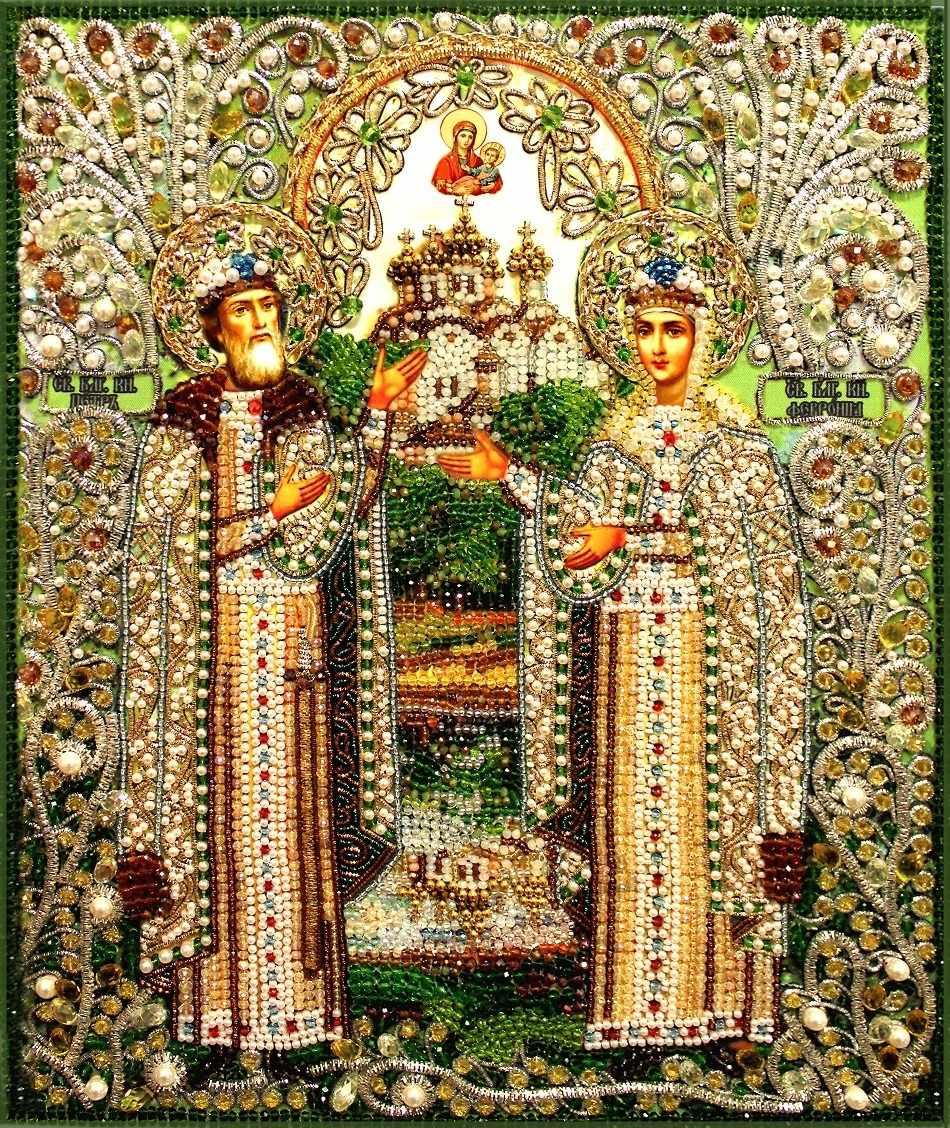 Вышивка бисером с камнями иконы наборы