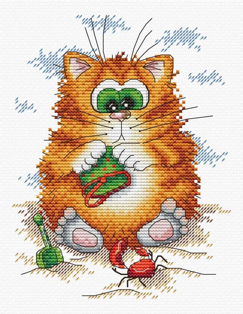 Схемы вышивок с котами 754