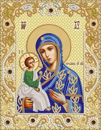 Икона божией матери иерусалимская вышивка 23