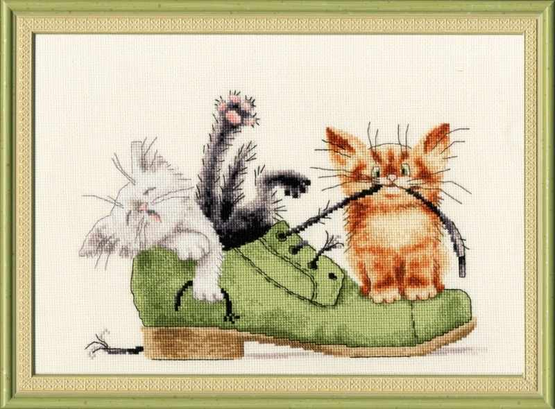 Схемы вышивок с котами 367