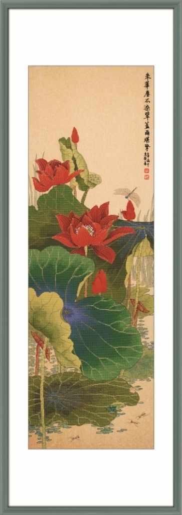 2800126 Красный лотос - набор (Xiu Crafts)