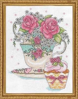 2851 Розы в чайной чашке (Design Works)