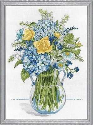 2866 Желто-голубой букет (Design Works)