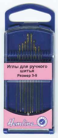 287G39 Иглы для модисток в пластиковом контейнере № 3-9, 10 шт