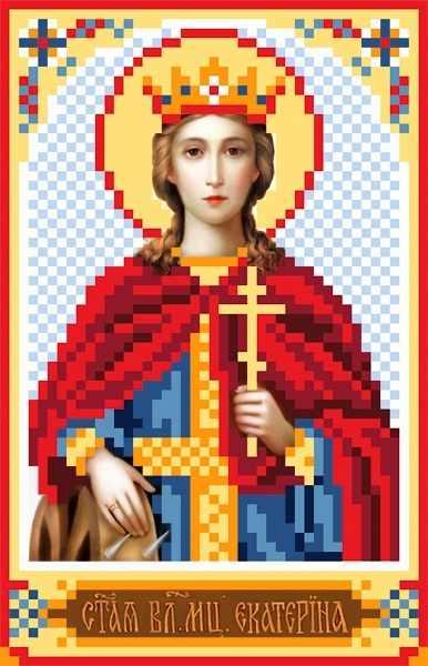 3038 Св.Екатерина - рисунок на шелке (МП)