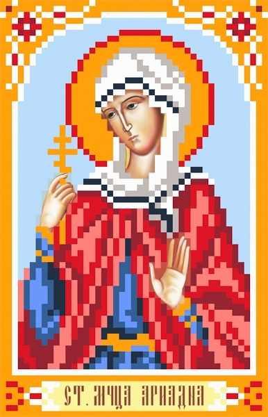 3044 Св.Ариадна - рисунок на шелке (МП)