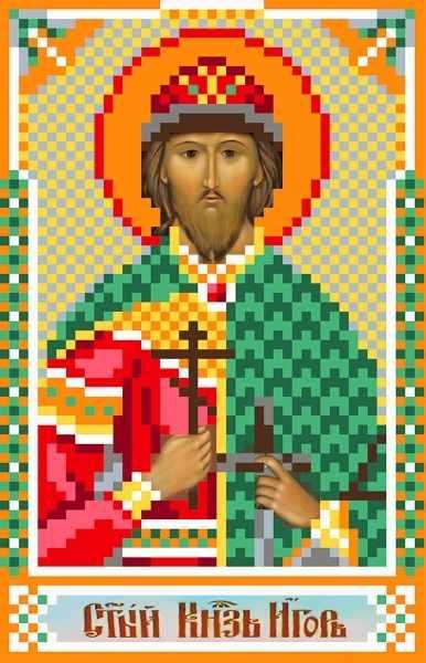3054 Св.Игорь - рисунок на шелке (МП)
