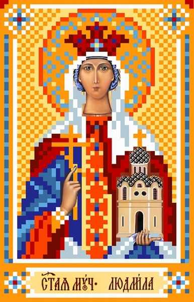 3059 Св.Людмила - рисунок на шелке (МП)