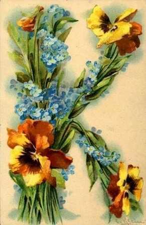 """341 Цветочный алфавит """"K"""""""