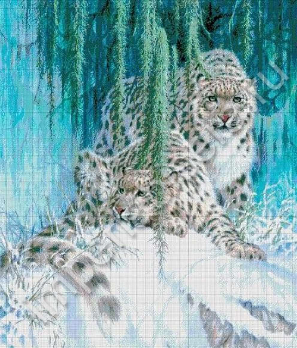 36-5092-НС Снежный барс - набор для вышивания (А. Токарева)
