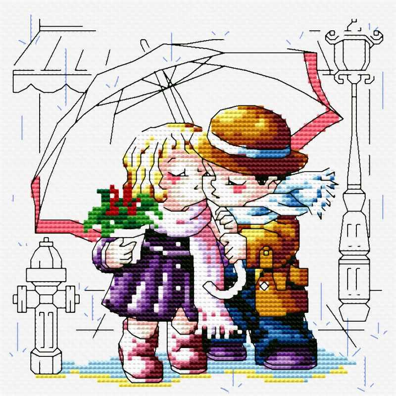 361-14 Романтика под зонтом (Белоснежка)