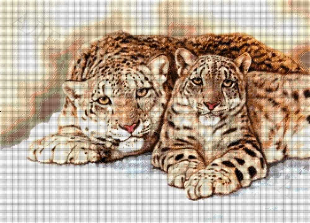 37-2944-НБ Барсы - набор для вышивания (А. Токарева)