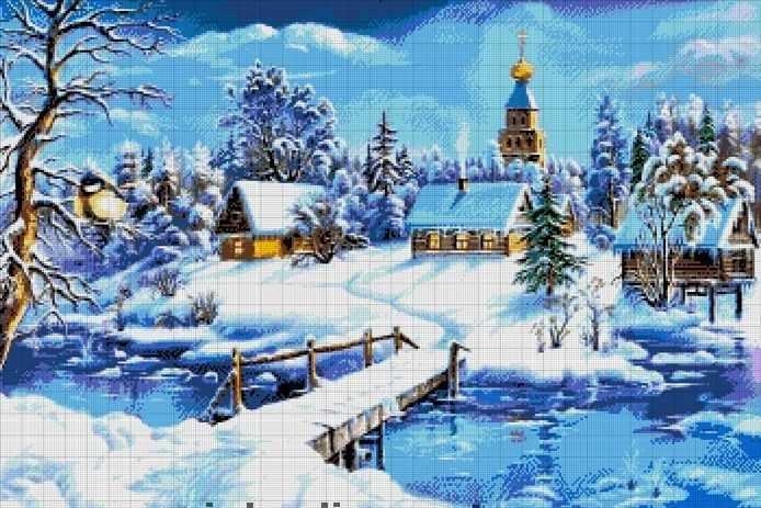 37-3148-НЗ Зимняя сказка - набор для вышивания (А. Токарева)