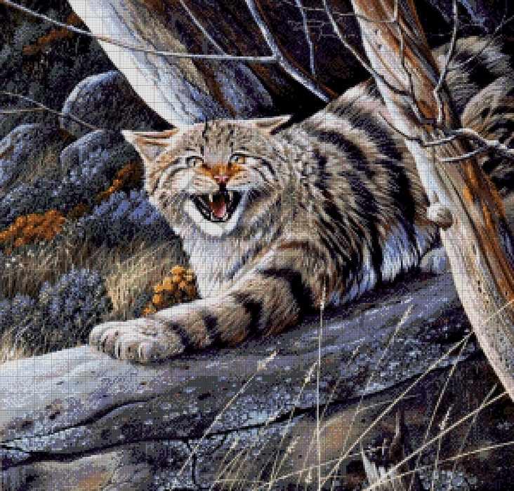 40-2915-НЛ Лесной кот - набор для вышивания (А. Токарева)