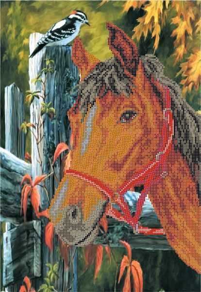 4038 Лошадь - рисунок на шелке (МП)
