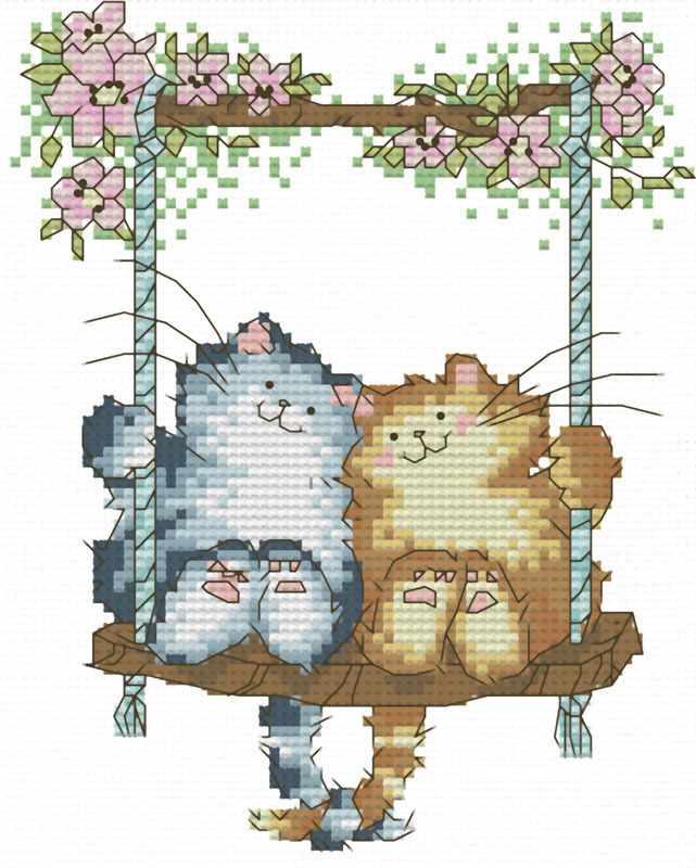 407-14 Влюблённые кошки (Белоснежка)