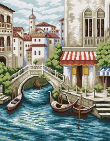 4105-14 Улочки Венеции (Белоснежка)