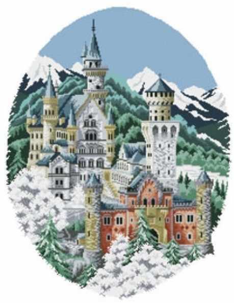 4135-14 Замок спящей красавицы (Белоснежка)