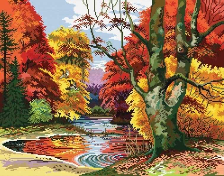 4151-14 Поздняя осень (Белоснежка)